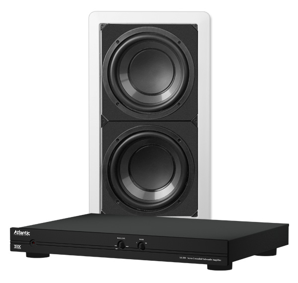 In Wall Subwoofer >> Atlantic Technology Iw 28sub Thin Bezel Dual 8 Inch Passive In Wall Subwoofer