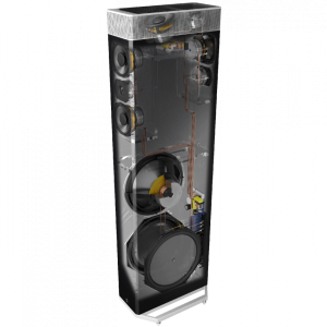 Definitive Technology BP9080x Tower Speaker with Integrated 12 inch Powered Subwoofer and Height Module – Each