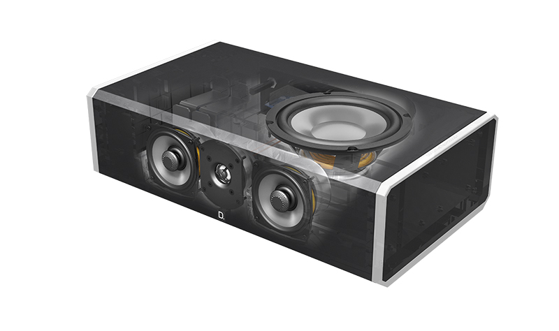 Definitive Technology CS9060 Center Channel Speaker with Integrated 8 inch Powered Subwoofer-4944
