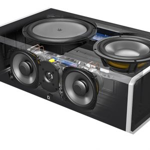 Definitive Technology CS9080 Center Channel Speaker with Integrated 8 inch Powered Subwoofer and Bass Radiator