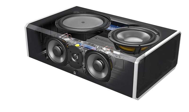 Definitive Technology CS9080 Center Channel Speaker with Integrated 8 inch Powered Subwoofer and Bass Radiator-4935