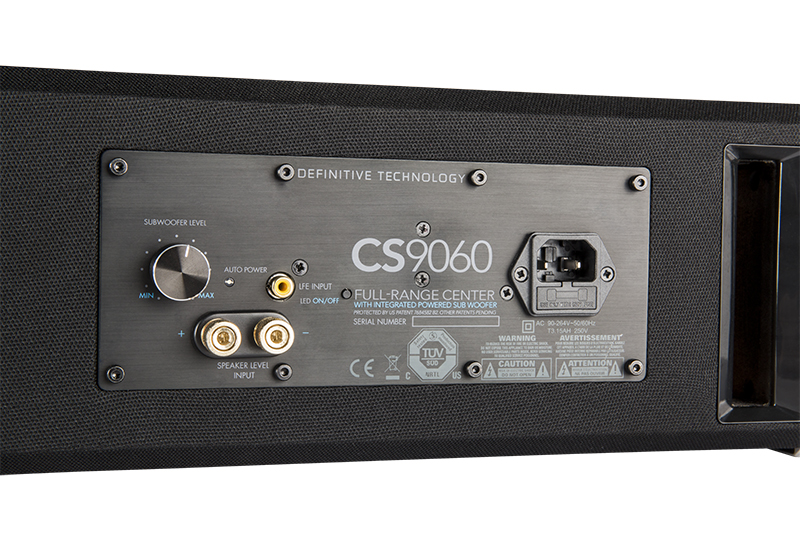 Definitive Technology CS9060 Center Channel Speaker with Integrated 8 inch Powered Subwoofer-4942