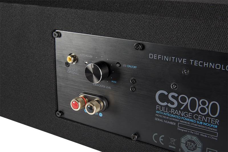 Definitive Technology CS9080 Center Channel Speaker with Integrated 8 inch Powered Subwoofer and Bass Radiator-4940